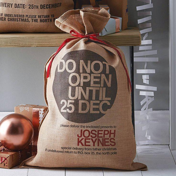 personalised bryanston christmas sack by harrow & green | notonthehighstreet.com