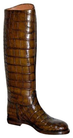 Gucci Nib Crocodile Leather Riding Sz Us 7.5 Eu 37.5 Italy Brown Boots on Sale, 68% Off | Boots & Booties on Sale at Tradesy