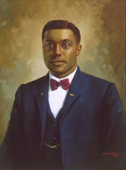 Albert Comstock Hamlin 1881-1912 by Simmie Knox. A.C. Hamlin, Republican, was the first black elected to the Oklahoma State Legislature. He was elected in 1908.