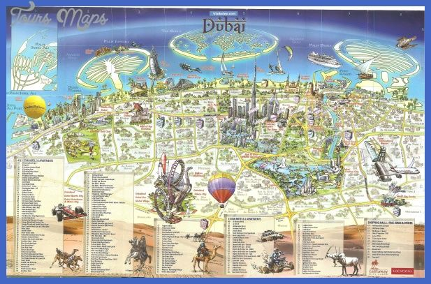 Dubai Map - http://toursmaps.com/dubai-map.html