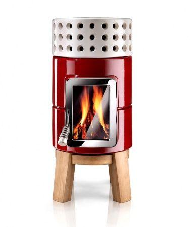 """Ideal für's Beheizen des Saunagartenhaus... leider zu teuer. Dann doch eher einen einfachen Werkstattofen Solist: Kamin """"RoundStack Wood"""" von Stackstoves"""