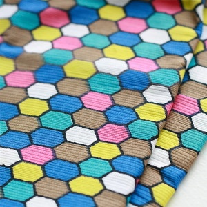 Image of Vintage Hexagon Print fabric Fat Quarter - Colourful!   $8.00 from My PoppetFat Quarter