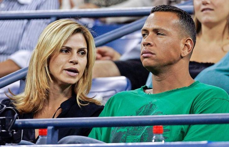 New York Yankee star Alex Rodriguez and his wife Cynthia watch the Shahar Peer and Nicole Vaidisova match at the US Open tennis tournament in New York on Sept. 1, 2007. The two reached a settlement of their divorce onSept. 19, 2008 (Darron Cummings/AP)