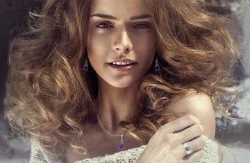 Melanie Woods World Jewellery Amethyst sterling silver pendant and earrings