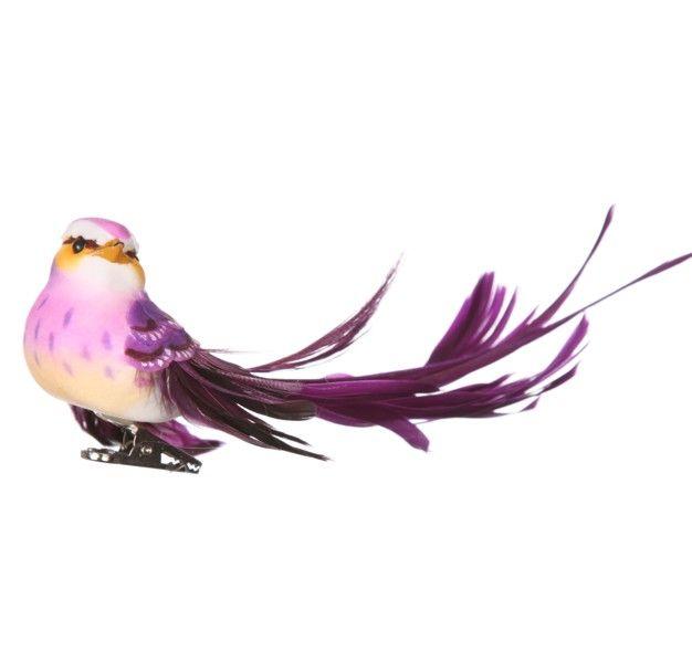 http://www.sassandbelle.co.uk/Tropical Bird Clip - Purple