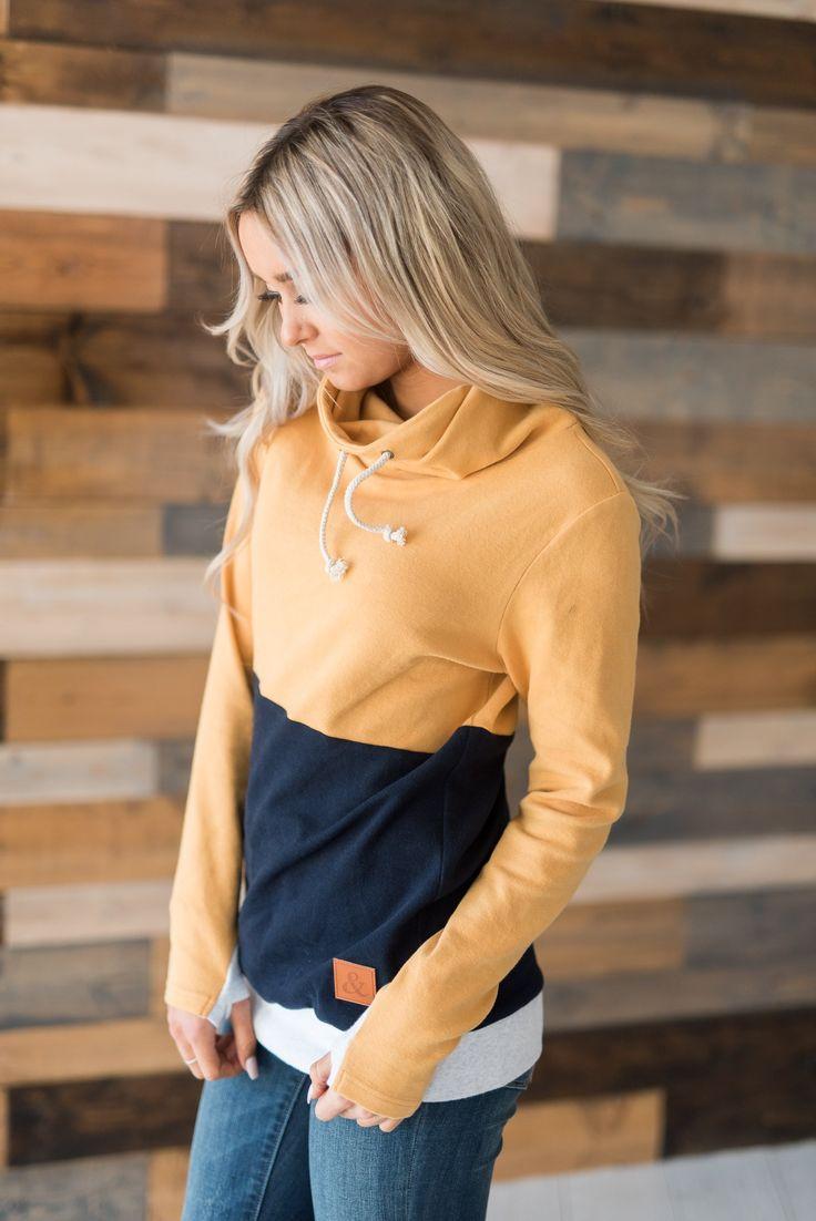 CowlNeck Sweatshirt - Nautical