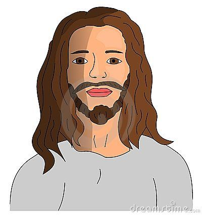 Illustration of Jesus Christ - Portrait