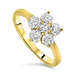1.05cts Diamond Cluster Ring