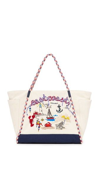 Tory Burch Nautical Canvas East Coast Tote