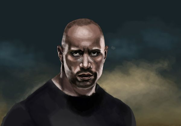 The Rock - Digital Painting on Behance