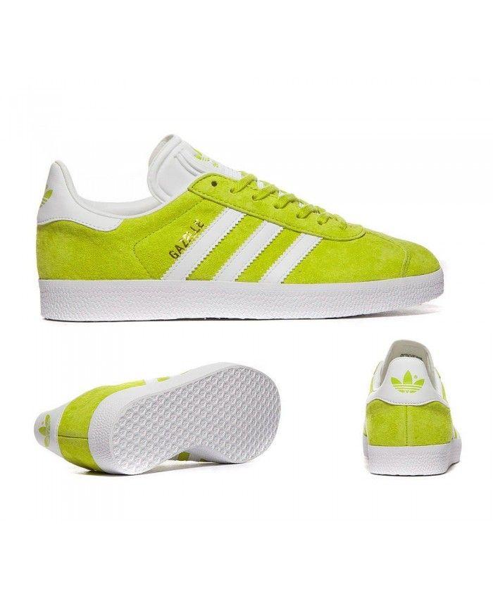 Adidas Originals Gazelle Unity Lime Trainers Sale UK  92b6ef16d