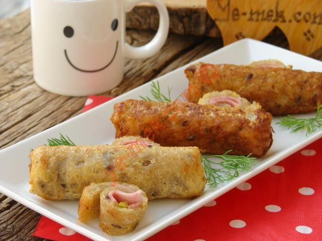 Kahvaltılık Salamlı Ekmek Ruloları Resimli Tarifi - Yemek Tarifleri