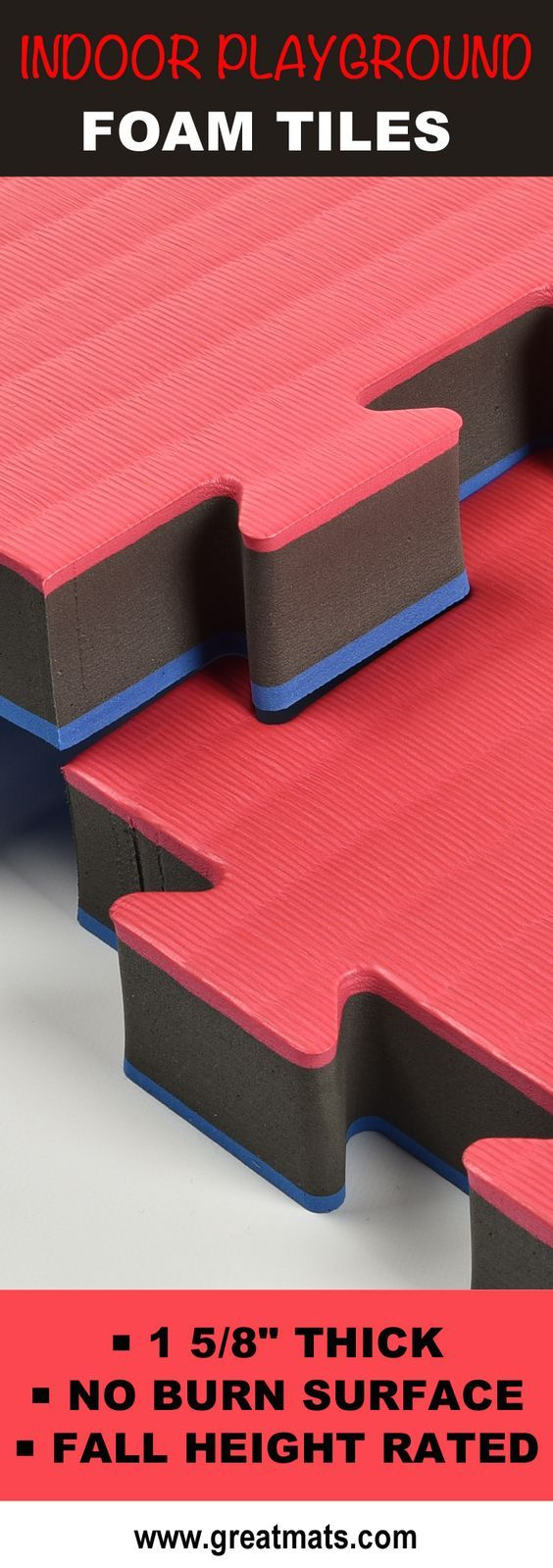 Greatmats Indoor Playground Foam Tiles Provide Fall Protection As Wells As  A Comfortable Play Surface That