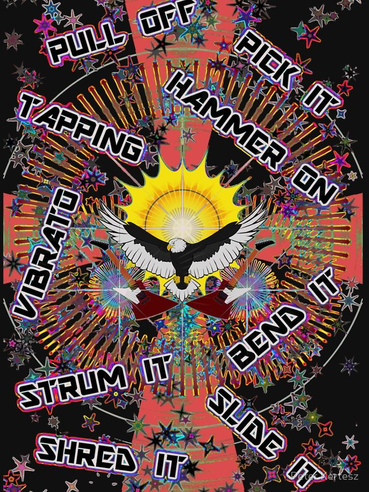 Electric Guitar Technic Design / Educational,fun,colorful design for not only guitar players • Also buy this artwork on apparel, stickers, phone cases, and more.