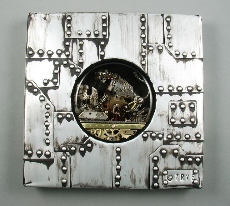 Cat and mouse (Pzkpfw VIII MAUS) Sculpture. Histo-Cyber-Steam-Punk. Unique piece of art. Two in one: medallion and image to hang on the wall. http://polandhandmade.pl  #polandhandmade #dieselpunk #tryb #jewelry #cat #tank