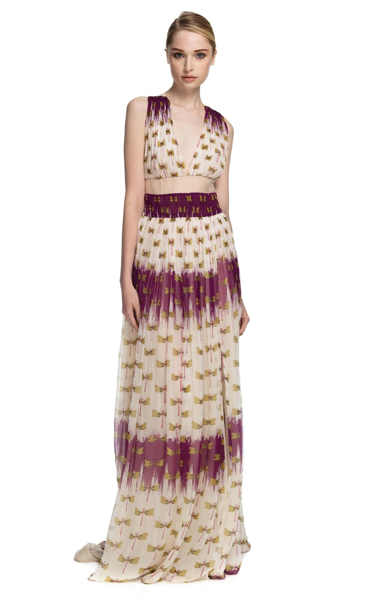 Dragonfly Gown...so pretty.Crinkle Chiffon, Dragonflies Gowns Want, Dragonflies Dresses, Sophie Theallet, Theallet Crinkle, Chiffon Dragonflies, Dragonflies Gowns Beautiful, Casual Dresses, Dragonflies Gowns So