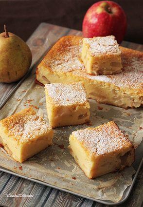 Gâteau Carré pomme poire
