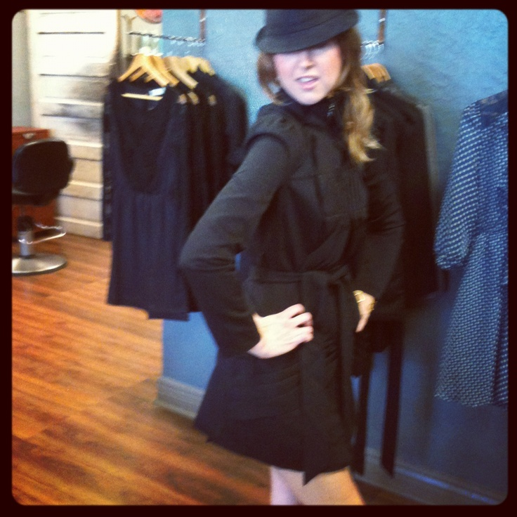 Is it a DRESS? Is it a JACKET? It's a DRACKET! Available at Verde Eco Salon Boutique Gallery 11700 San Jose Blvd Jacksonville, FL 32223. If interested, phone 904.292.0007. Modeled by Kim Hurley. Only $105
