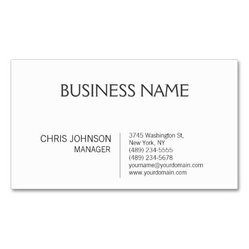 Management consultant business card the for Design consultant company