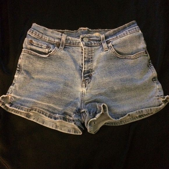 Vintage Levi's Vintage Levi high waist shorts  very worn as seen in the photos. And have a hole in the back of leg size 7. Feel free to make an offer Levi's Pants