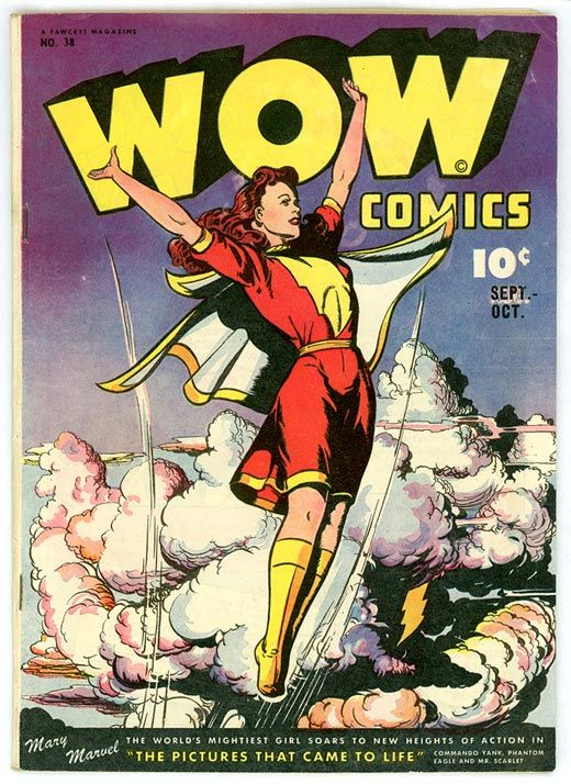 Mary Marvel - Mary was brought up as Mary Bromfield.