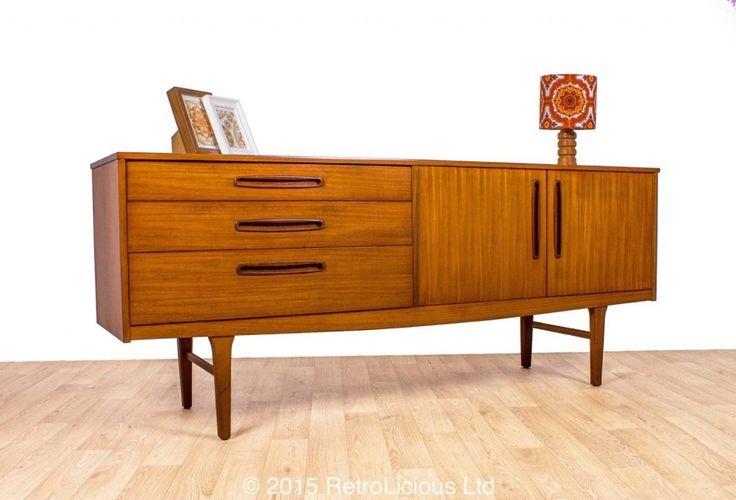 Teak danish inspired sideboard drinks cabinet nathan for Danish design furniture replica uk