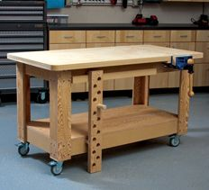 Want this for craft room.....l mobile workbench plans | rolling bench | woodworking | HANDY Magazine