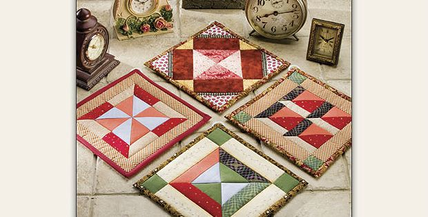 Four Charming Pot Holders Are Included in This Pattern! Select interesting fabrics in beautiful colors for these charming pot holders. Coordinate the colors across all 4 designs to make a set or let each one stand alone. These charmers can probably be stitched up with fabric already in your stash. In fact, leftovers from other …