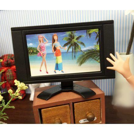 Niños Barbie Accesorios TV Pantalla plana LCD Muebles de Casa muñeca Juguetes
