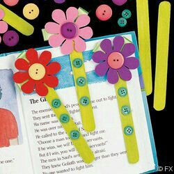 flower bookmark #stick #wooden