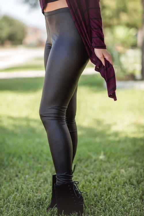 Fall Fashion, Matte Leather Leggings, Faux Leather Leggings- Liquid Leggings by Jane Divine Boutique www.janedivine.com