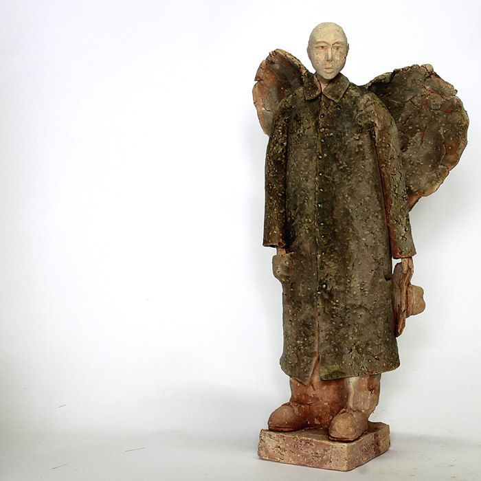 Angel daily 2.1/Ceramic Sculpture /Unique Ceramic Figurine /Ceramic People by arekszwed on Etsy