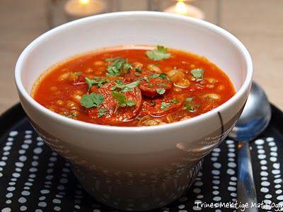 Bønne- og linsesuppe med kylling og chorizo - TRINEs MATblogg