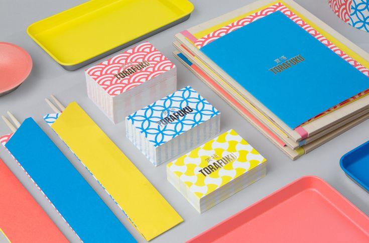 Branding for contemporary pan Asian restaurant Torafuku by graphic design studio Brief