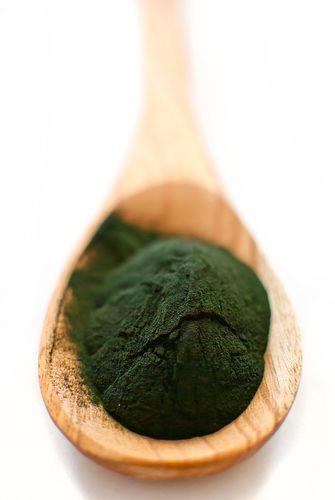スピルリナはラテン語で「ねじれる」という意味で、微細藻類です。大豆のプロテイン含有量が33〜35%に対し、スピルリナは60〜70%と、地上最強と言っても過言ではない程のプロテインを含有している食品だそうです。その他にも、小さじ1杯で、一日の必要摂取量の80%にも達する鉄分を含み、熱量たった30カロリーというスーパーフードだそうです