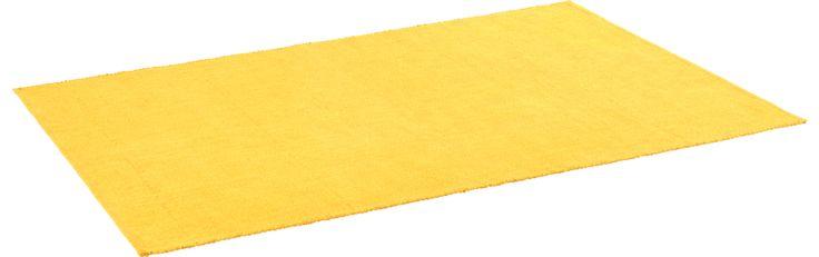 Gilmore Tapis tissé plat en coton 120x180 jaune (www.habitat.fr)