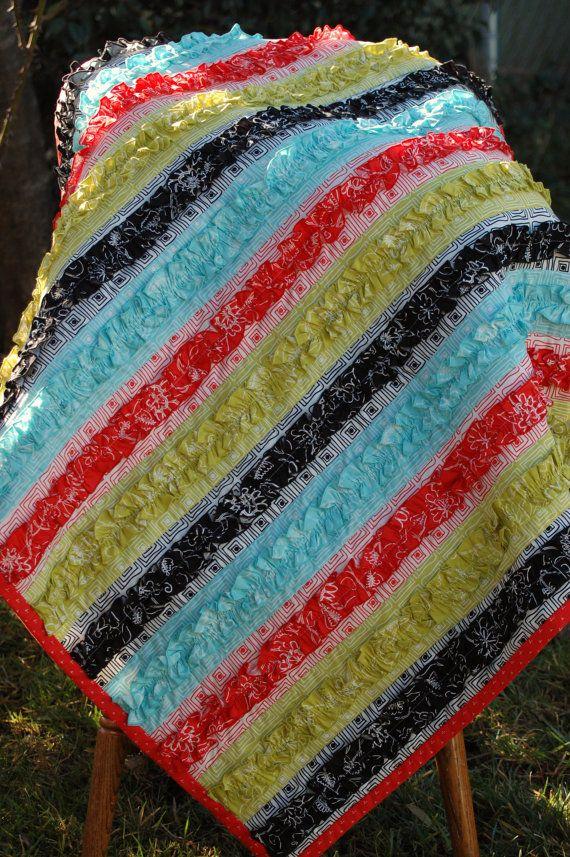 Ruffles: Ruffles Blankets, Quilt Ideas, Rag Quilt, Darling Ruffles, Baby Blankets, Ruffles Quilt, Cute Quilt, Baby Gift, Baby Quilt