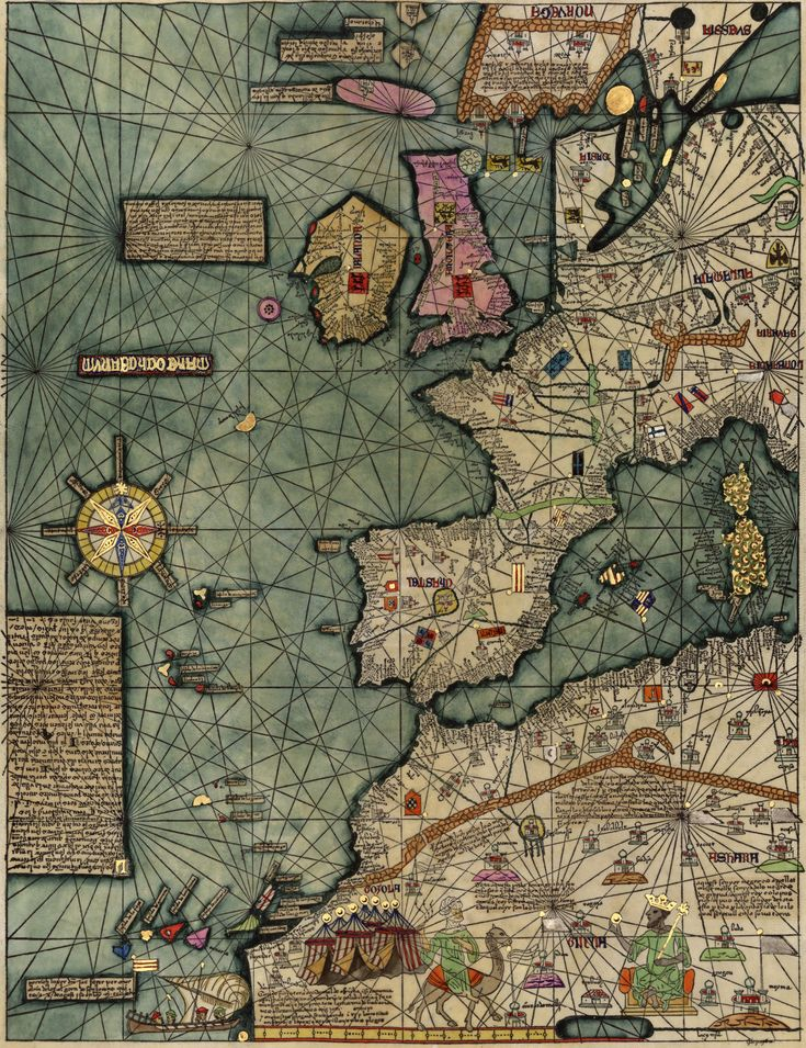 "The Catalan Atlas is the most important Catalan map of the medieval period. It was produced by the Majorcan cartographic school and is attributed to Cresques Abraham (also known as ""Abraham Cresques""), a Jewish book illuminator who was self-described as being a master of the maps of the world as well as compasses."