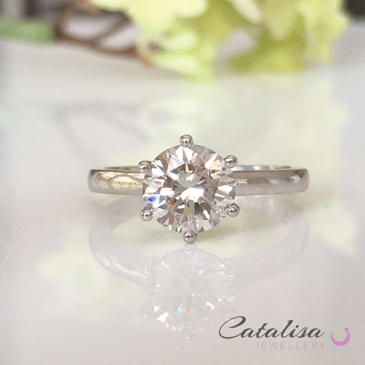 1 Carat Solitaire Diamond Engagement ring designed by Catalisa Jewellery