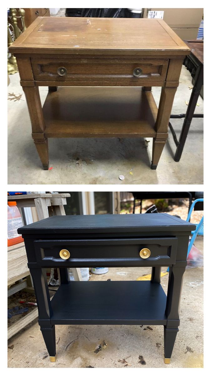 Night Stand Or End Table Upcycle Shabby Chic Coffee Table Upcycled Furniture Before And After Furniture Makeover [ 1200 x 675 Pixel ]