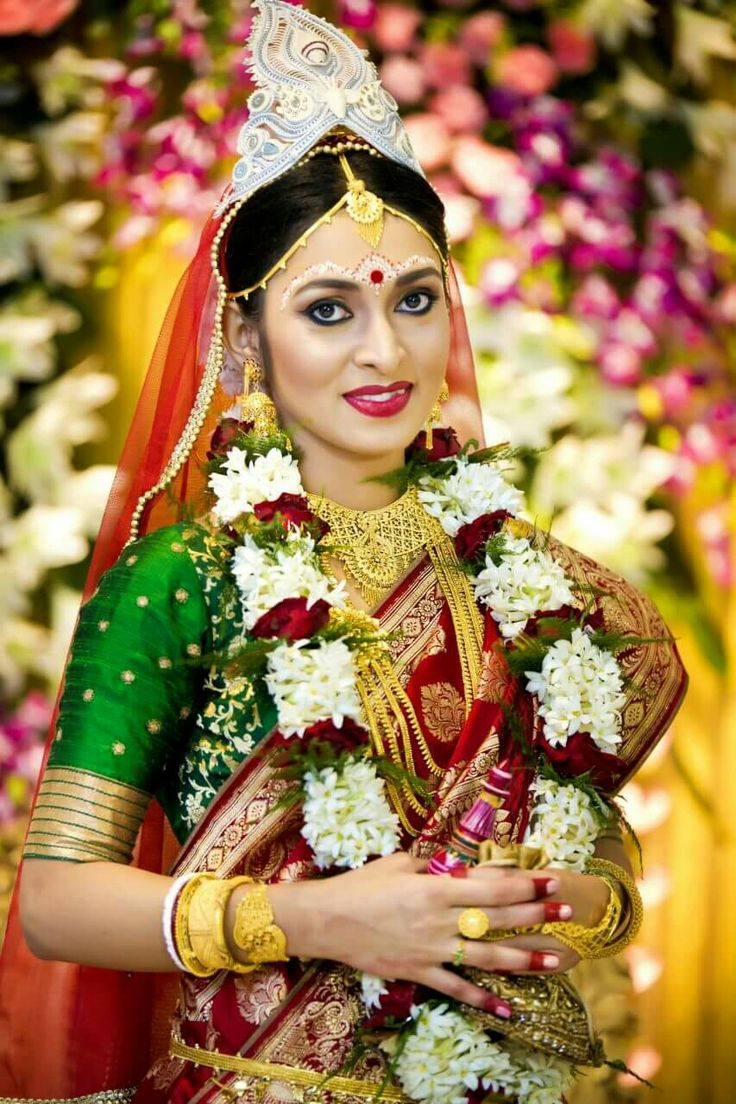 Bengali bridal gold jewellery -  Bengal Bridal Bride Bengali Wedding India