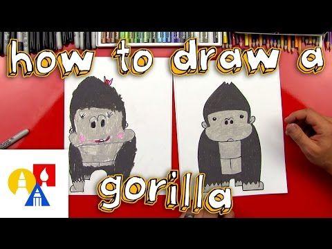 How To Draw A Cartoon Gorilla - Art for Kids Hub