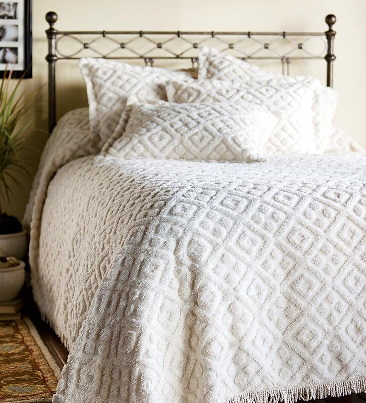 Chenille Bedspreads | Cotton Chenille Bedspreads And Shams   Plow U0026 Hearth