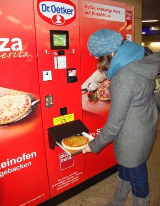 I'd love to get pizza from a vending machine.