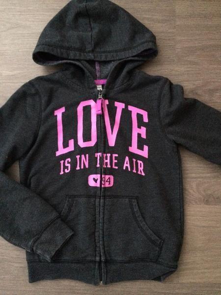 Full-Zip Hooded Sweater (Girls Size 8)