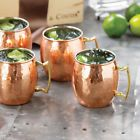 4 Pcs 100% Pure Coper Hand Hammered Copper Moscow Mule Mugs / Cups Copper Mug