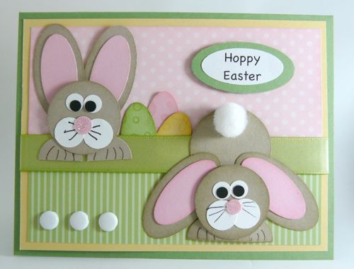 Easter card...punch art bunnies...too cute!!!