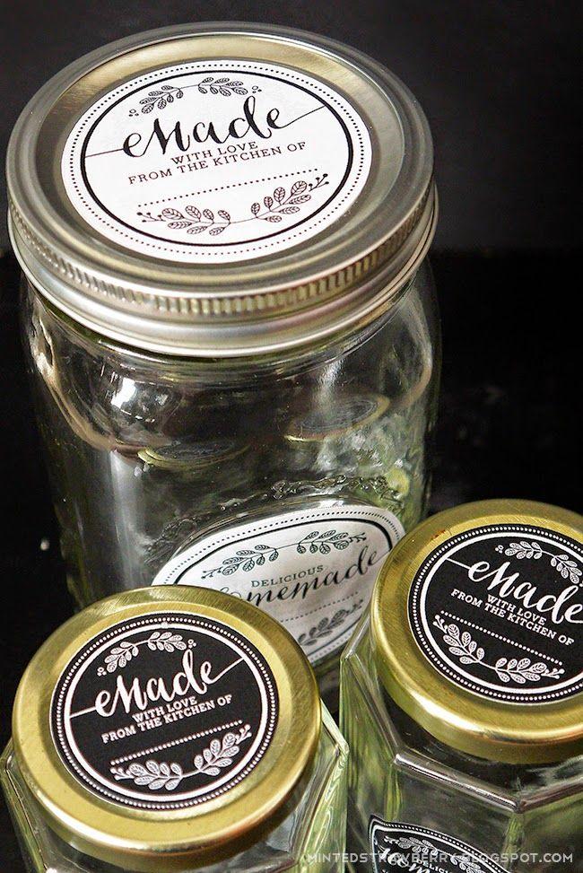 Imprimible De Etiquetas Para Tarros  Free Printable Homemade Mason Jar Labels In -1920