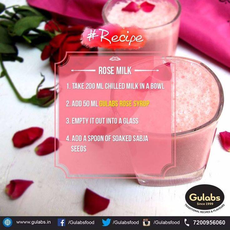 Fix yourself Rose Milk with Gulabs Rose Sharbat !!  #gulabs #rosesharbat #drink #summerdrink