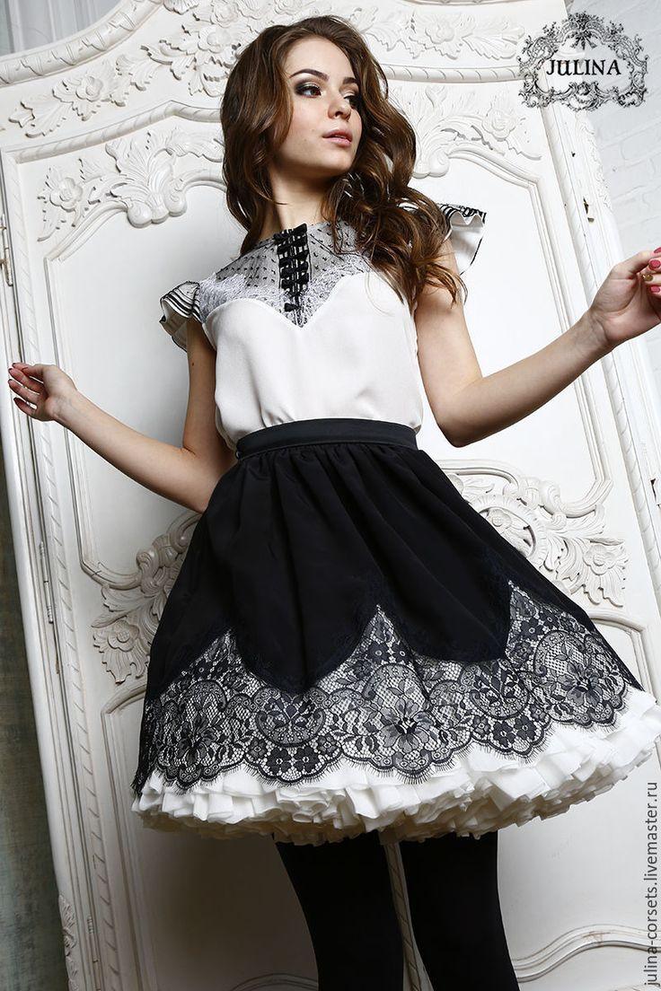 """Купить Блузка шелковая """"Римские каникулы"""" - чёрно-белый, блузка, блузка нарядная, винтаж, Париж"""
